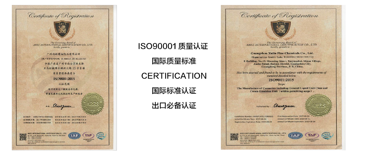 Iso9001:2015 quality management system certification